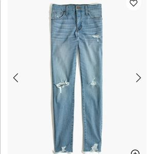 """Madewell 9"""" Rise Skinny Distressed Light Jeans 26"""